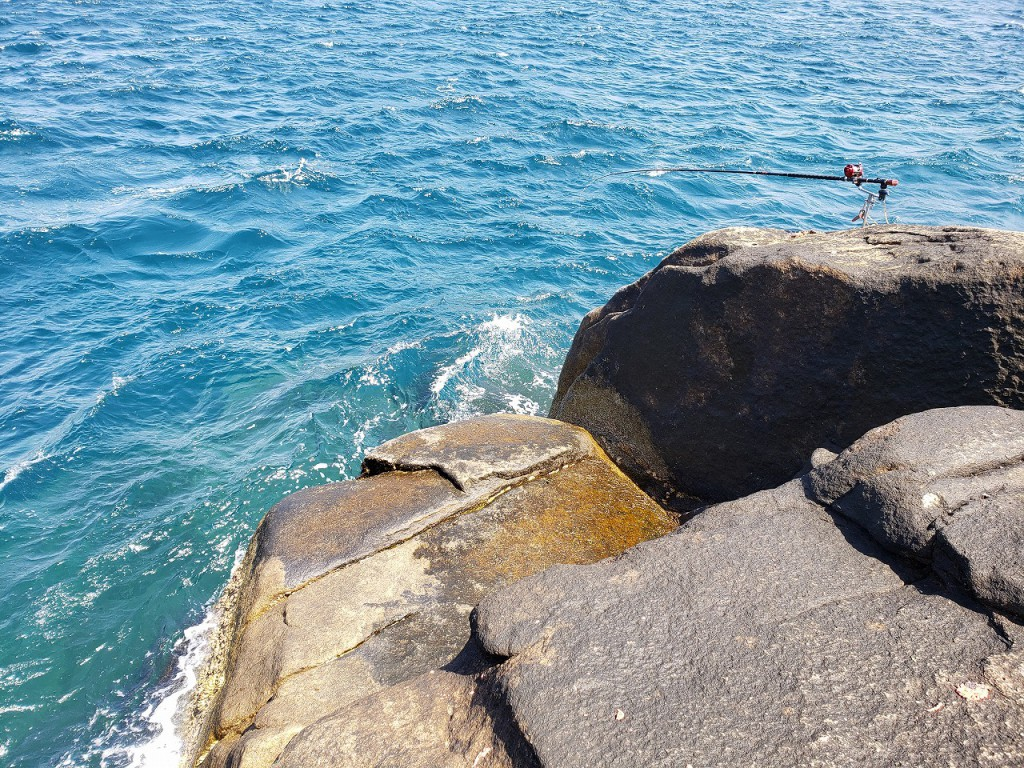 幸島の中でも実績が高いヒナダンの船着けと釣り座20210503_102102